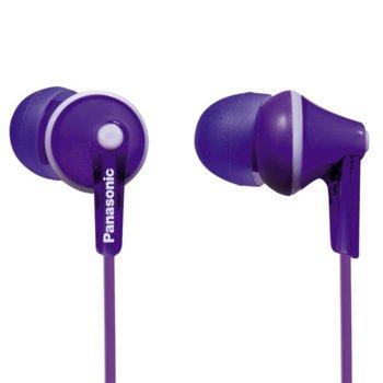 Слушалки тип тапи Panasonic RP-HJE125E-V - лилави product