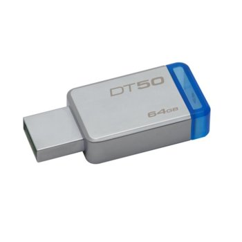 Памет 64GB USB Flash Drive, Kingston DataTraveler, USB 3.1 Gen 1, сив image