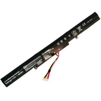 Батерия (заместител) за лаптоп Asus, съвместима с GL752VL/GL752VW/GL752JW/N552VW/N552VX, 4-cell, 14.4V, 2600mAh image