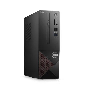 Настолен компютър Dell Vostro 3681 SFF (N206VD3681EMEA03_2101_UBU_M), четириядрен Comet Lake Intel Core i3-10100 3.6/4.3 GHz, 4GB DDR4, 1TB HDD, 4x USB 3.2, клавиатура и мишка, Linux image