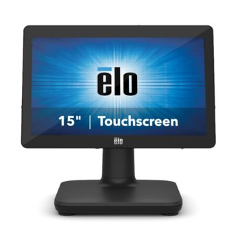 "All in One компютър Elo EPS15E3-2UWA-1-MT-4G-1S-W1-64-BK, четириядрен Intel Core i3-8100T 3.1 GHz, 15.6"" (39.624 cm) HD LED Capacitive Multi Touch Display, 4GB DDR4, 128GB SSD, USB-C, Windows 10 image"