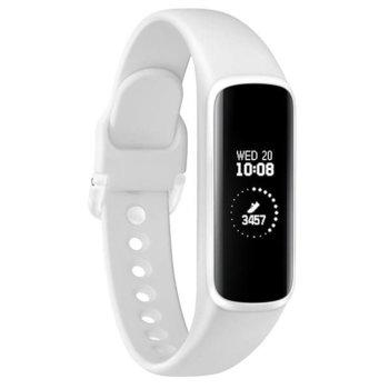 Смарт гривна Samsung SM-R375N Galaxy Fit Е, акселерометър, сензор за сърдечен ритъм, Bluetooth v5.0, за Android, бяла image