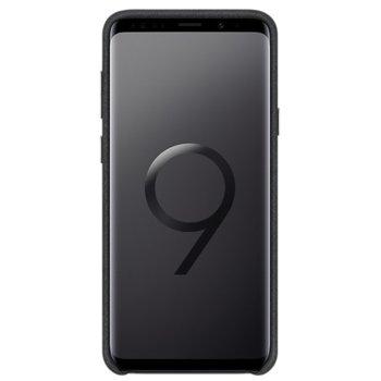 Калъф за Samsung Galaxy S9 + Alcantara Cover, велурен, удароустойчив, черен image