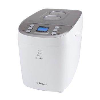 Хлебопекарна Rohnson R 2098, 15 автоматични програми, 3 нива на изпичане, отложен старт до 15 часа, 10-минутна памет при спиране на тока, бяла image