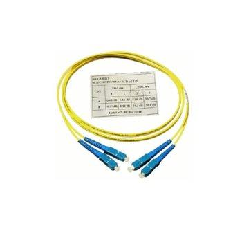 Оптичен пач кабел, SC/UPC(м) към SC/UPC(м), 9/125, сингъл мод, 1m image