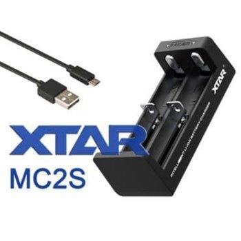 Зарядно устройство Xtar MC2S, с 4 гнезда за 10440/14500/14650/16340/17335/17500/17670/18350/18490/18500/18650/18700/20700/21700/22650/25500/26650 батерии image