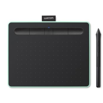 Графичен таблет Wacom Intuos M Bluetooth Pistachio (зелен)(CTL-6100WLE-N), 2540 lpi, 4096 нива на натиск image