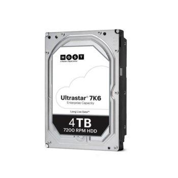 Твърд диск 4TB Western Digital WD HGST Ultrastar DC HC310 7K6 (512n) TCG, SATA 6Gb/s, 7200rpm, 256MB кеш, 3.5 (8.89cm) image