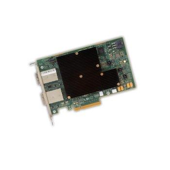 Контролер Broadcom SAS 9300-16E, от PCI-Express 3.0 x8(м) към 4x MiniSAS HD SFF8644, SATA/SAS 6Gb/12Gb/s image