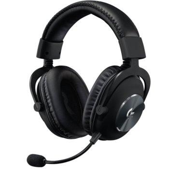 Слушалки Logitech Pro 981-000812, микрофон, гейминг, 3.5mm жак, USB, черни image