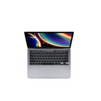 "Лаптоп Apple MacBook Pro 13 Touch Bar (2020) (MXK52ZE/A_Z0Z30005P/BG)(сив), четириядрен Intel Core i5 1.4/3.9GHz, 13.3"" (33.78) cm IPS Retina дисплей, (Thunderbolt), 8GB DDR4, 512GB SSD, 4x Thunderbolt 3, macOS Catalina image"