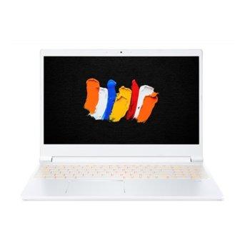 "Лаптоп Acer ConceptD 3 Pro CN315-72P-73PA (NX.C5ZEX.002)(бял), шестядрен Comet Lake Intel Core i7-10750H 2.6/5.0 GHz, 15.6"" (39.62 cm) Full HD IPS Anti-Glare Display & Quadro T1000 Max-Q 4GB, (mDP), 16GB DDR4, 1TB SSD, Windows 10 Pro  image"