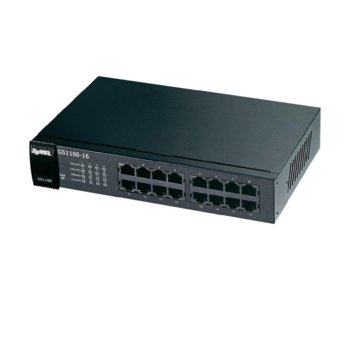 Суич ZyXEL GS1100-16, 1000 Mbps, 16 порта, 16x 1000 BASE-T image