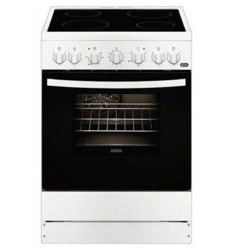 Готварска печка Zanussi ZCV65201WA, клас А, 4 нагревателни зони, 56л. обем на фурната, бяла image
