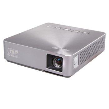 Проектор ASUS S1 Silver, LED, WVGA(854x480), 1000:1, 200lm, HDMI, USB, 6 000mAh батерия image