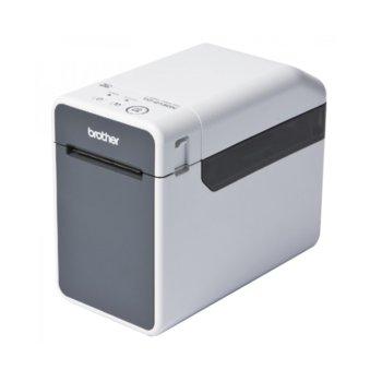 Етикетен баркод принтер Brother TD-2130N, 300dpi, LCD дисплей, термо-трансферен печат, USB 2.0 Mini Type B, RS232, LAN image