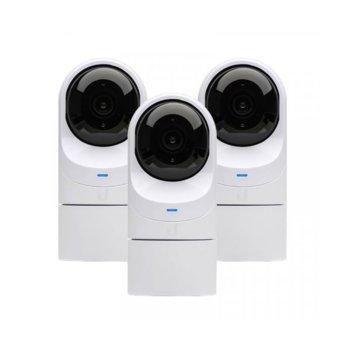 IP камера Ubiquiti G3 Flex (3 pack), куполна камера, Full HD (1920x1080@25fps), 4 mm обектив, H.264, IR осветеност, външна IP67, PoE, RJ-45, микрофон, 3x броя image