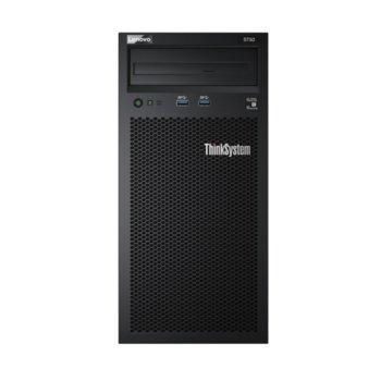 Сървър Lenovo ThinkSystem ST50 (7Y48A02DEA), шестядрен Coffee Lake Intel Xeon E-2126G 3.3/4.5 GHz, 16GB UDIMM DDR4, 2x 2TB HDD, 1x 1GbE, 4x USB 3.1, без ОС, 1x 250W Platinum PSU image