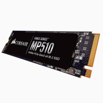 Памет SSD 480GB Corsair MP510 CSSD-F480GBMP510,M.2 PCI-e NVMe, M.2 2280, скорост на четене 3480MB/s, скорост на запис 2000MB/s image