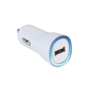 Зарядно за кола Vivanco 35928, 1A, USB, 5V, бяло image