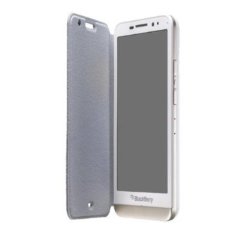 Leather Flip Case for Blackberry Z30 white product