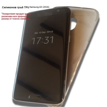 Калъф, Samsung Galaxy A3 2016, силиконов гръб, силикон, OEM, черен image