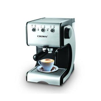 Ръчна еспресо кафемашина Crown CEM-1524, 15 bar, 1.5 литра резервоар за вода, защита от прегряване, 1050W image