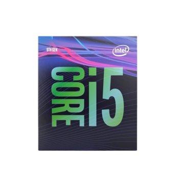 Процесор Intel Core i5-9400, шестядрен (2.9/4.10GHz 9MB L3 Cache, 1050MHz графична честота, LGA1151) BOX, с охлаждане image