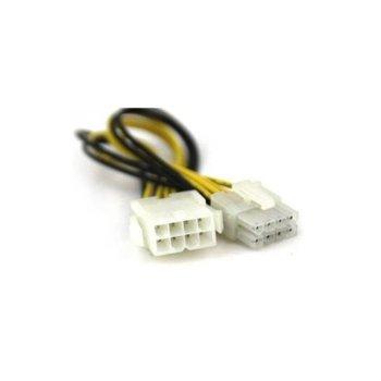 Захранващ кабел VCom CE314 8pin PCI-E(м) към 8pin(ж), 0.3m image