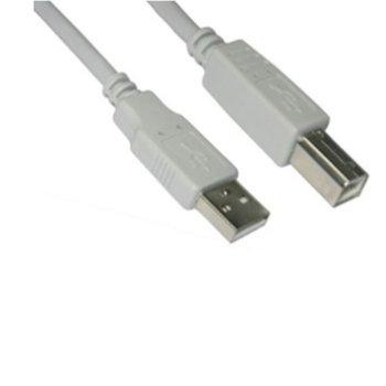 Кабел VCom CU201, USB A(м) към USB B(м), 1.5m, бял image