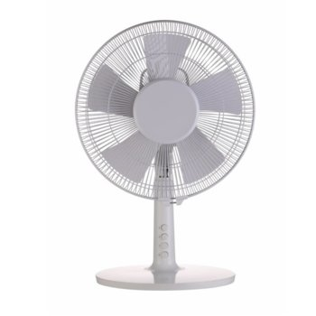 Настолен вентилатор Finlux FDF-1266, 3 скорости, 30 см. диаметър, 40W, бял image