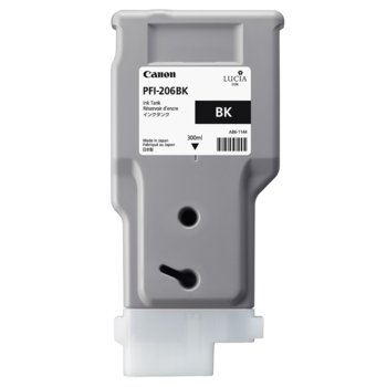 Глава за Canon iPF6400, iPF6450 - PFI-206 - Photo Black - P№ 5303B001 - 300ml image