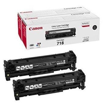 Canon CRG-718BK, 2Pk (2662B005AA) Black product