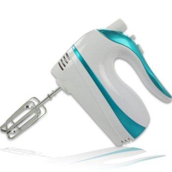 Миксер Zephyr ZP 1110 D, 500 W, 4 степени на работа, с турбо, бъркалки за тесто, бял/син image