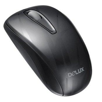 Mишка DELUX M107GX+G07UF, оптична 1000 dpi., безжична, USB (NANO receiver), черна image
