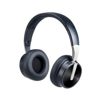 Слушалки Moveteck HiFi CТ954, безжични, микрофон, Bluetooth, 300mAh батерия, черни image