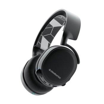 Слушалки SteelSeries Arctis 3 Bluetooth 2019 Edition, безжични, микрофон, Bluetooth, гейминг, черни image