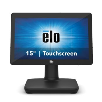 "All in One компютър Elo EPS15E3-2UWA-1-MT-4G-1S-NO-00-BK, четириядрен Intel Core i3-8100T 3.1 GHz, 15.6"" (39.624 cm) HD LED Capacitive Multi Touch Display, 4GB DDR4, 128GB SSD, USB-C, Free DOS image"