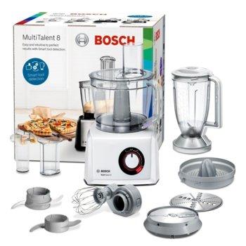 Кухненски робот Bosch MC812W620, 50 функции, Supercut острие, 1100W, бял image