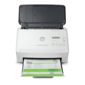 Скенер HP ScanJet Enterprise Flow 5000 s5, 600 dpi, A4, двустранно сканиране, ADF, USB, бял image