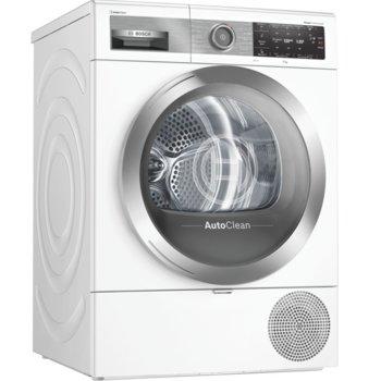 Сушилня Bosch Home Professional WTX87EH0EU, клас А++, 9 кг. капацитет, LED дисплей, свободностояща с възможност за вграждане, 59.8 cm. ширина, с термопомпена технология, ниво на шум 62dB, AutoClean технология, Smart Dry, бяла image