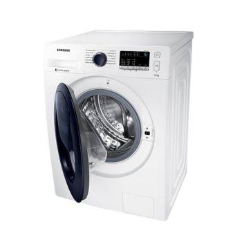 Перална машина Samsung WW70K44305W/LE, клас A+++, 7 кг. капацитет, 1400 оборота в минута, свободностояща, 60 cm. ширина, Smart Check функция, керамичен нагревател, защита от деца, бяла image