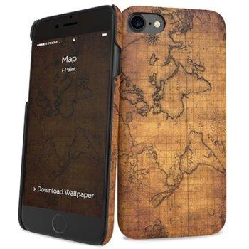 Калъф за Apple iPhone 8, поликарбонатов, iPaint Map HC, щампа image