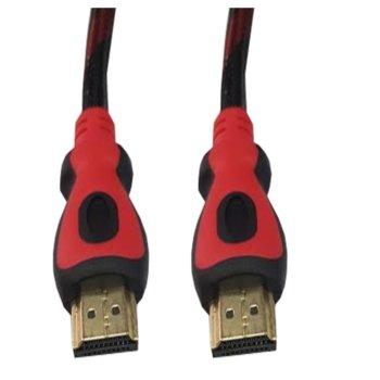 Кабел от HDMI(м) към HDMI(м), 3м, червен/черен, v1.4 image