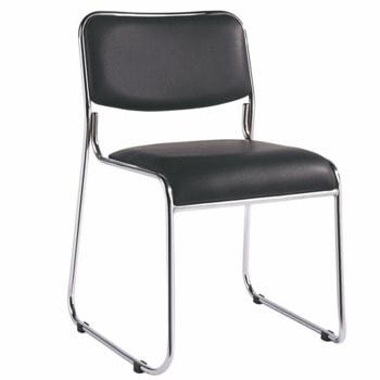 Посетителски стол RFG Axo M, до 120кг. макс тегло, еко кожа, черен image