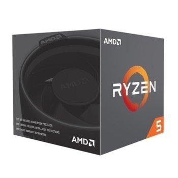 Процесор AMD Ryzen 5 2600 шестядрен (3.4/3.9GHz, 3MB L2/16MB L3 Cache, AM4) BOX, с охлаждане Wraith Stealth image
