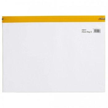 Джоб с цип, A4+ Snopake 'S', жълт/прозрачен image
