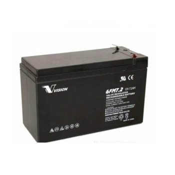 Акумулаторна батерия Vision 6FM72F2, 12V, 7.2 Ah, VRLA image