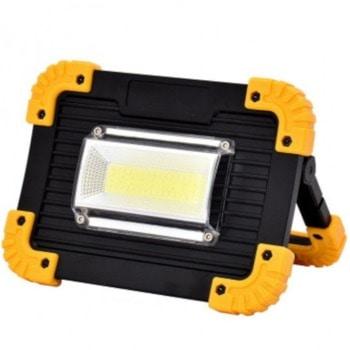 Акумулаторна къмпинг LED лампа LL-811 536888, 2x Li-on 18650, 1000 Lumens, IP44 защита, 6500 К, 3 режима на работа, черен image