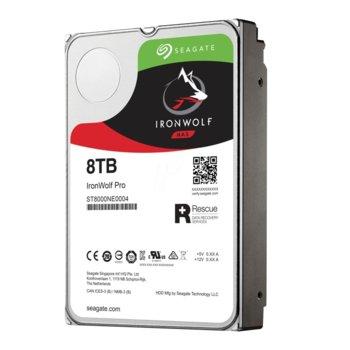 "Твърд диск 8TB Seagate Iron Wolf Pro Nas ST8000NE0004, SATA 6Gb/s, 7200 rpm, 256MB, 3.5"" (8.89 cm) image"